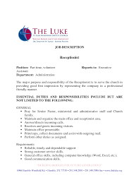 best photos of veterinary receptionist job description resume medical receptionist job description receptionist resume sample via