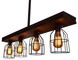 fayette caged wood light farmhouse kitchen island lighting