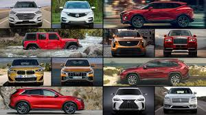 Suv Comparison Chart 2018 2019 New Suvs The Ultimate Buyers Guide Motor Trend