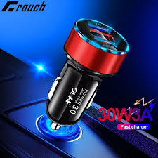 <b>OLAF 30W</b> 5V <b>3A</b> Dual QC 3.0 Fast USB Car Charger For iPhone X ...