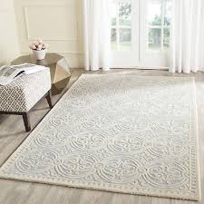 wrought studio martins hand tufted wool light blue cream area rug