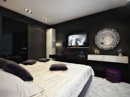 View in gallery Lovely use of framed photographs in the black and white  bedroom