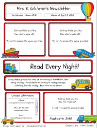 Free Teacher Newsletter Templates Custom Classroom Newsletter Printable Sample Home