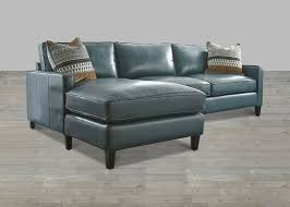 turquise leather sectional with chaise lounge