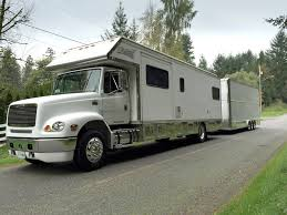 36ft renegade motorhome with 30ft stacker trailer w lift photo 1