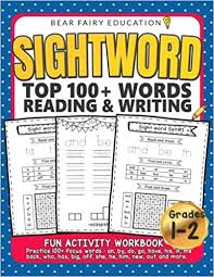 Sight Word 1st Grade Amazon Com Sightword Top 100 Words Reading Writing 1st 2nd