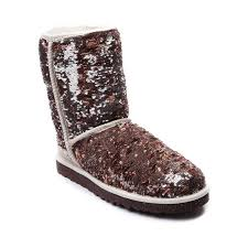 UGG® Classic Short Sparkle Boot - Champagne   Women UGG Shoes C23u2318