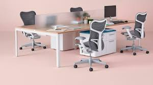 four gray mirra 2 chairs with white frames at a layout studio bench wood top studio furniture layout68 layout