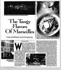 The Tangy Flavors Of Marseilles The New York Times