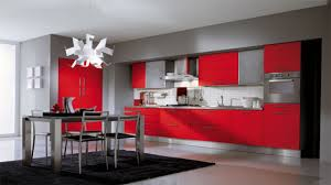 Gorgeous Red And Grey Kitchen Cabinets for House Decor Inspiration with Red  Color Kitchen Red Cabinets Grey Walls Red And Grey Kitchen