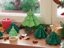Weihnachtsdeko Basteln Tannenbäumchen Aus Papier Mein