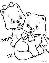Small Picture Cute Cat Coloring Pages Bestofcoloringcom