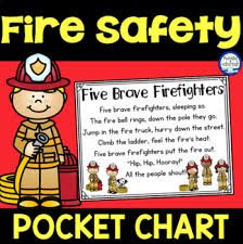 Pocket Chart Rings Fire Safety Pocket Chart
