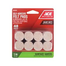Ace 1in Heavy Duty Felt Pads Self Adhesive Pads & Furniture
