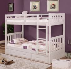 Discovery World Furniture Twin over Twin White Mission Bunk Bed ...