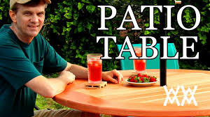 diy round outdoor table. How To Make A Patio Table. This Outdoor Table Is Easy Build! - YouTube Diy Round