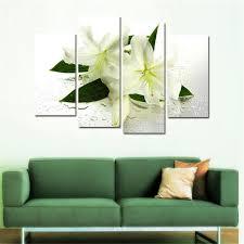 green flower canvas wall art