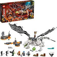 LEGO 71721 NINJAGO Drache des Totenkopfmagiers, 2-in-1 Bauset und  Brettspiel mit Skelett-Rittern Minifiguren: Amazon.de: Spielzeug