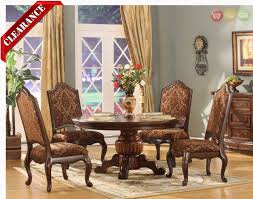 Round Dining Room Furniture Formal Wood Dining Room Furniture 5 Piece Set Table And 4 Side