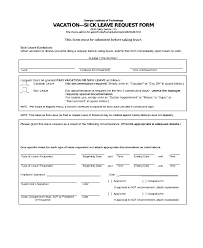 Sample Vacation Request Form Paid Time Off Form Template Request For Time Off Form Sample