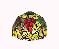 Happy Living Lighting Tiffany Style Stained Glass Lamp Shade Onlyshade 8 Inch Wide Grape