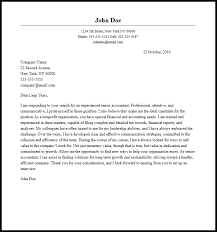 Professional Senior Accountant Cover Letter Sample Writing