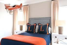 blue and orange bedding kids room plaid blue and orange bedding