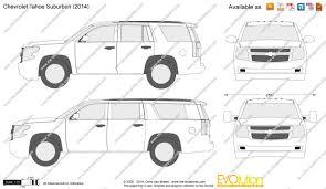 The-Blueprints.com - Vector Drawing - Chevrolet Tahoe Suburban