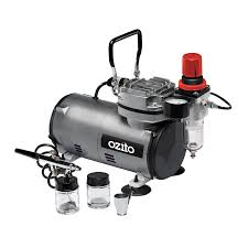 this 150w 1 6hp mini air compressor and airbrush kit is perfect for intricate or detailed work such as painting hobbyist models airbrushing artwork