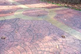 brushed concrete patio