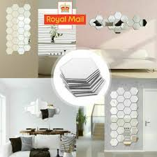 small mirror tiles glass wall stickers