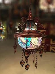 turkish pendant lights hanging stained glass mosaic ottoman lantern lamp chandelier