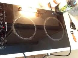 free standing induction hob with 2 rings