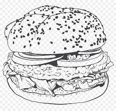 Hamburger Clip Art Patatine Fritte Grafica Vettoriale Barbecue