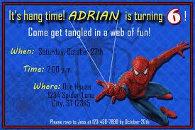 Spiderman Birthday Invitation Templates Free Spiderman Birthday Invitation Cards Printables