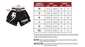 Venum Shorts Size Chart Venum Giant Muay Thai Shorts