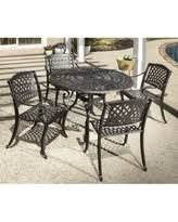 aluminum dining sets patio furniture. westbury cast aluminum dining set with round table and 4 stackable arm chairs ( sets patio furniture