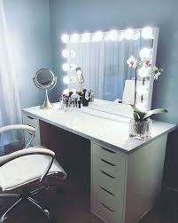 bedroom vanity desk makeup with lights modern