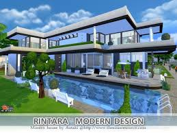 Small Picture The Sims Resource Modern Luxury house by Praline Sims Sims 4