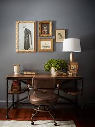 home office dark blue gallery wall. A New Old 18th Century Home | Rue Office Dark Blue Gallery Wall V