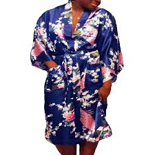 plus size robes floral satin womens plus size robes lightweight sizes 20 38 knee