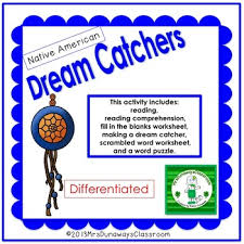 Dream Catcher Worksheet New Native American Dream Catchers By Mrs Dunaways Classroom TpT