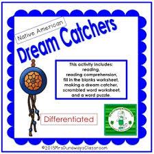 Dream Catcher Worksheet New Native American Dream Catchers By Mrs Dunaways Classroom TpT