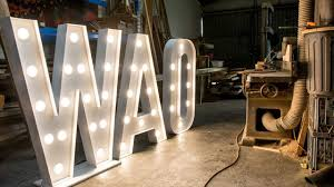 Giant Light Up Letters Repairing Giant Light Up Letters A Day In The Shop