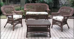 4 piece wicker set. Contemporary Set Mackinac Four Piece Outdoor Wicker Seating Furniture Set  All About In 4
