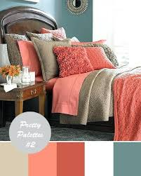 Coral Colored Quilt Set Wedding Color Palettes 2 Muted Teal And ... & Coral Colored Quilt Set Wedding Color Palettes 2 Muted Teal And Tan With Coral  Coral Colored Adamdwight.com