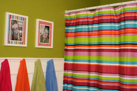 colorful striped shower curtains in mesmerizing kids shark shower