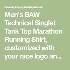 Baw Size Chart Mens Tech Singlet Running Shirt By Baw Marathon Singlet