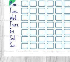 Potty Training Sticker Chart Printable Potty Training Mermaid Printable Reward System Childrens Etsy