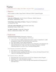 Executive MBA Weekend Program Resume Sample - Before-1